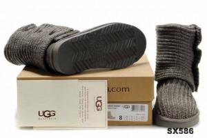 5819高筒靴潮灰色