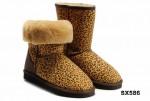 5825中筒靴豹纹色