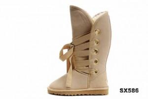 5818 高筒靴沙色