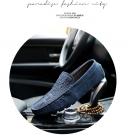 夏天轻质豆豆鞋男真皮磨砂休闲皮鞋老司机潮鞋子软体工作鞋男透气K600,尺码38-46