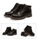 男士短靴皮靴子男高帮工装靴复古秋冬男鞋K606,尺码38-44