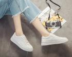 862【高品质】秋冬新款皮面小白鞋系带学生休闲鞋35-39